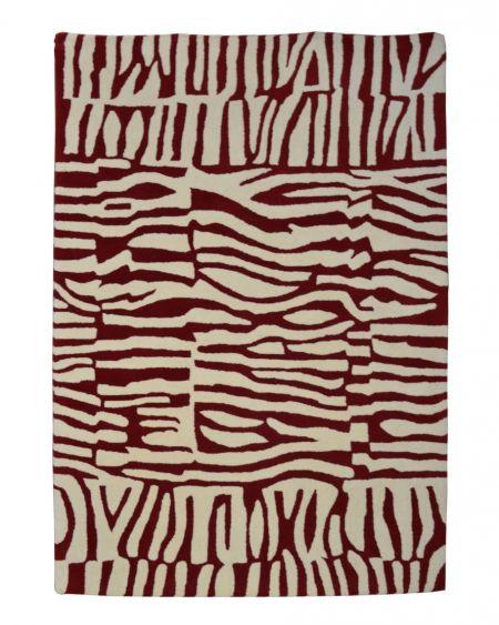 Alfombra oriental manual de lana Inca