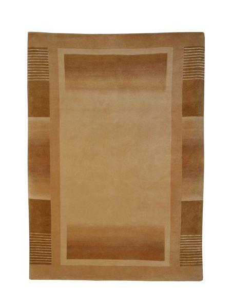 Alfombra oriental lisa con cenefa LARIA 10005