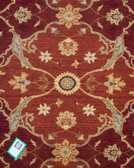 alfombra clásica de lana kirman 60076 detalle
