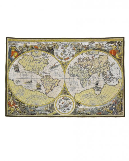 Tapiz de pared mapa s.XVI ORBIS TERRAE