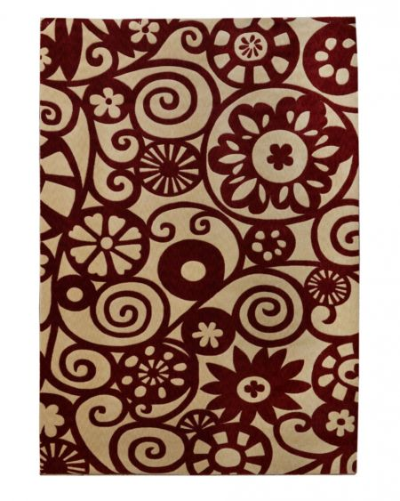 Alfombra moderna de lana LOLITA 01