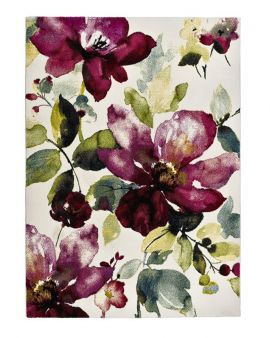 Alfombra diseño flores acuarela COLORS 21854