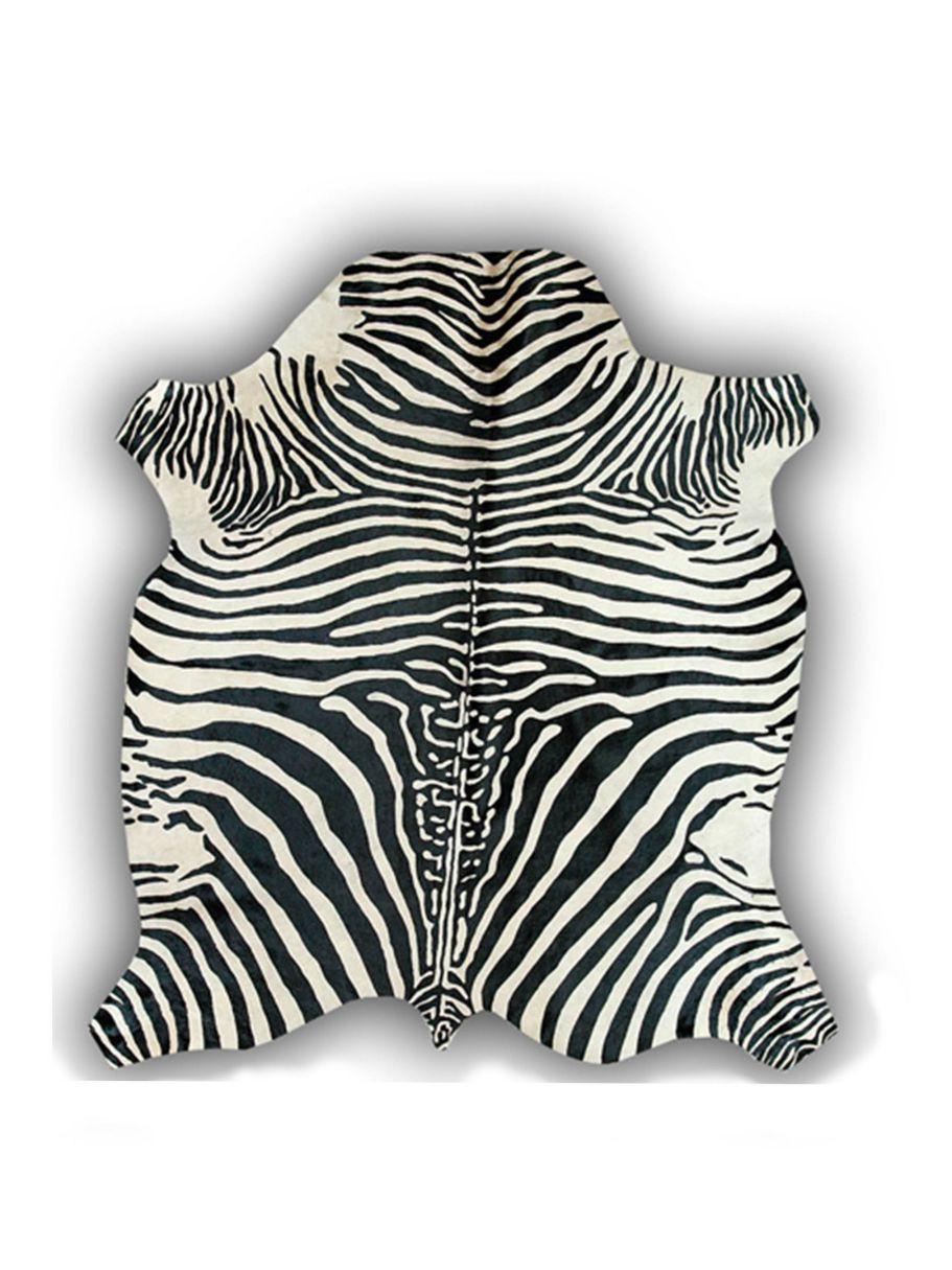 Alfombra de piel natural de toro con dise o cebra alfombras nelo - Alfombras de cebra sintetica ...