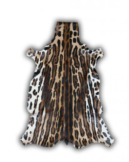 Alfombra de piel natural de gacela diseño ocelote