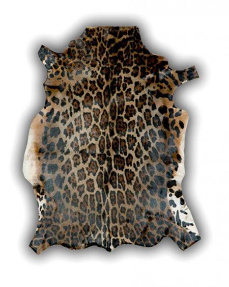 Alfombra de piel natural de blesbok diseño pantera