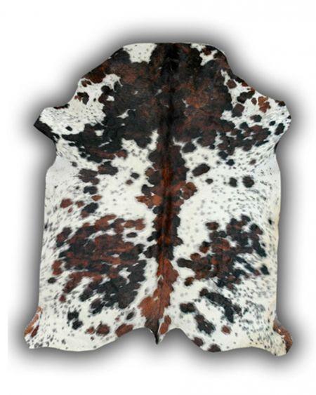 Alfombra de piel natural de toro normando p1