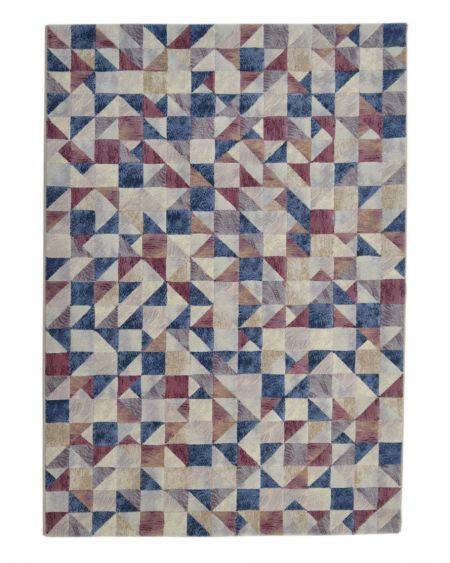 Alfombra geométrica ARGENTUM 63361 9191