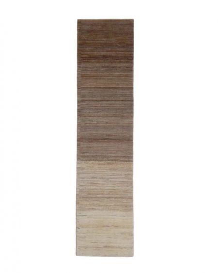 Alfombra oriental persa GABBEH SHEKARLOU 342x82 en colores marrones y beiges