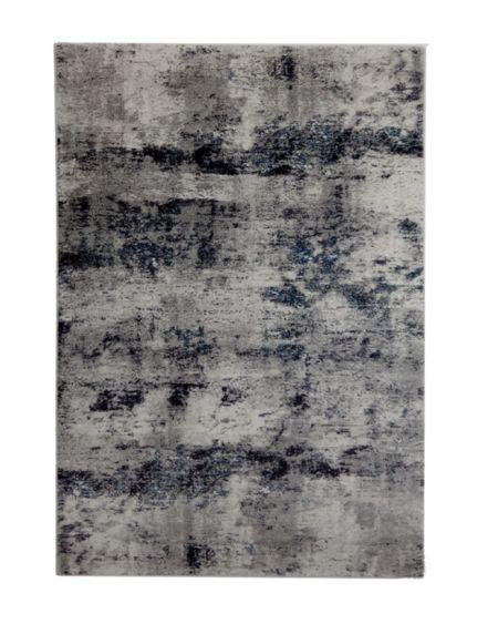 Alfombra moderna industrial INFINITY 32667 6258 en color gris y azul
