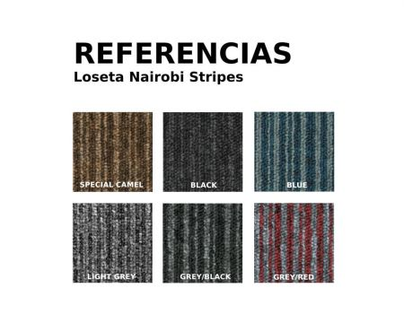 Referencias moqueta en loseta nairobi stripes