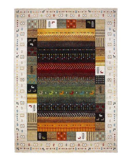 Alfombra étnica ETHNO 21536. Alfombra multicolor étnica, fabricada en Turquía.