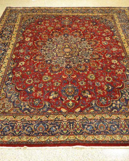 Alfombra persa manual de lana Mashhad 300x385