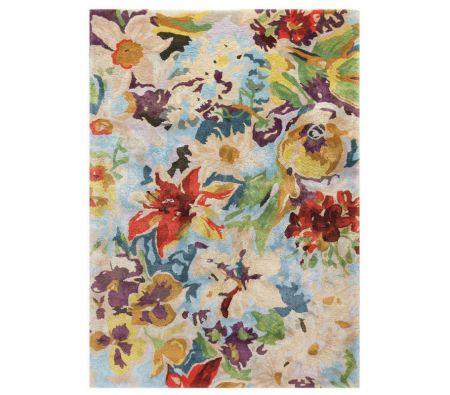 Alfombra diseño floral acuarela PRIMAVERA 07100
