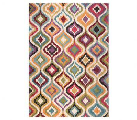 Alfombra retro multicolor PRIMAVERA 07101