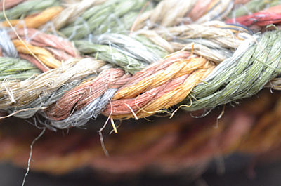 Alfombras rústicas y fibras vegetales
