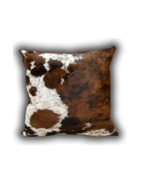 Cojín de piel natural de toro normando