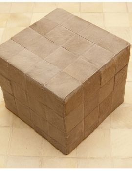 puff beig piel natural (alfombrasnelo.com)