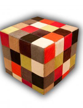 puff colores lisos piel natural (alfombrasnelo.com)