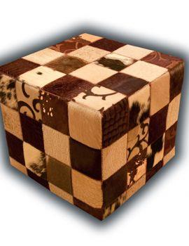 puff marrones grabados (alfombrasnelo.com)