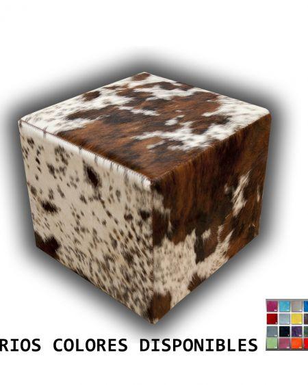 Puff de piel natural de toro Pieces