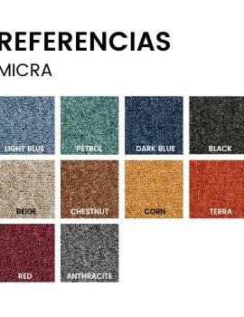 Referencias MICRA moquetas en formato loseta