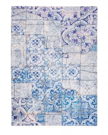 Alfombra Patchwork ALICE 19 Azul