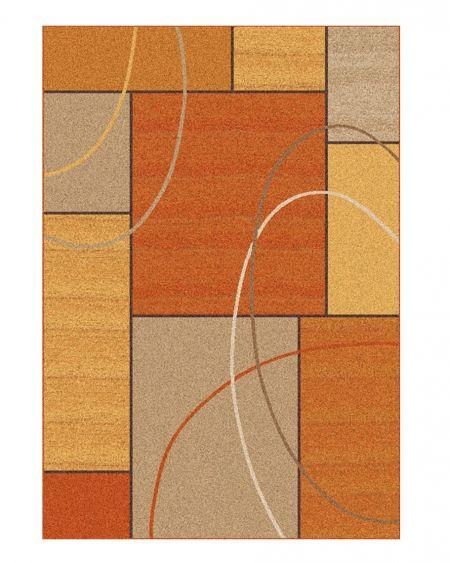 Alfombra moderna naranja DELTA 977 05