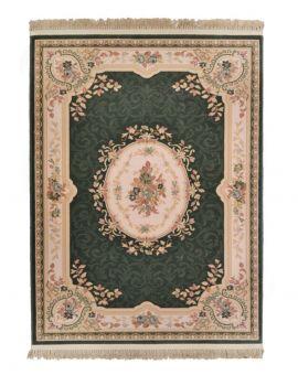 versalles 801 verde alfombra clasica