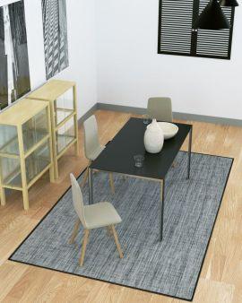 alfombra de pvc simply color negro
