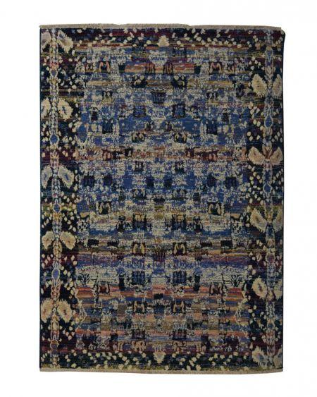 Alfombra étnica de lana ARAN AZUL 170x240