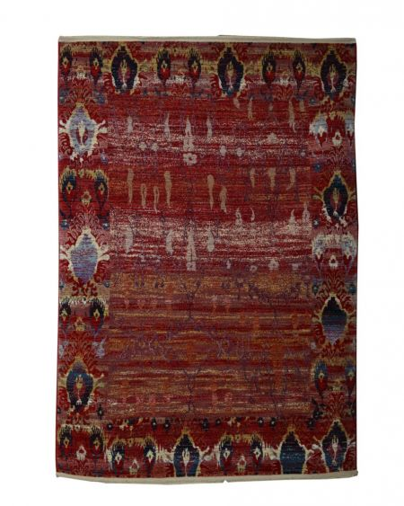 Alfombra étnica de lana ARAN ROJA 170x240