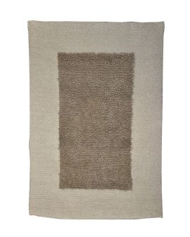 Alfombra manual de lana Dot Grey 170x240
