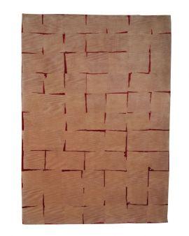 Alfombra manual de lana F. S. Beige 170x260