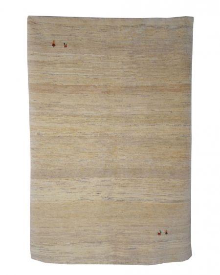 Alfombra manual GABBEH 172x240 lisa, en color beige