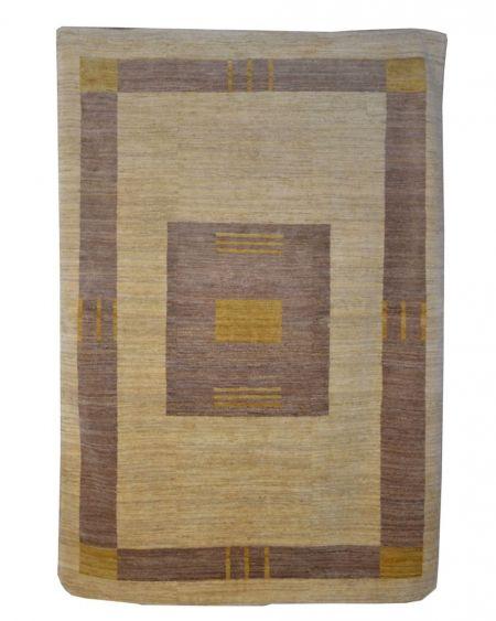 Alfombra manual GABBEH PAK 171x248 en color beige y marrón