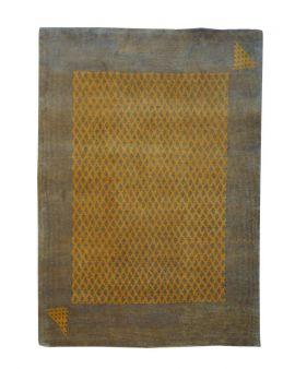 Alfombra manual GABBEH 186X239 en color amarillo azafrán