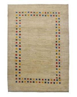 Alfombra persa manual de lana GABBEH 220x287