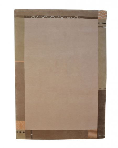 Alfombra manual de lana Rewa Nepal beige 170x240