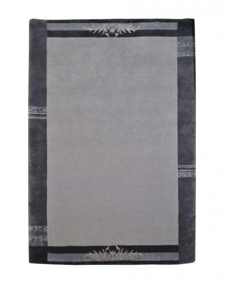Alfombra manual de lana Rewa Nepal gris 170x240