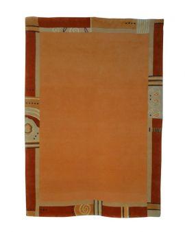 Alfombra manual naranja Rewa Nepal 170x240
