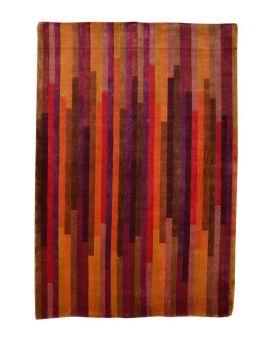 Alfombra manual de lana Shibori multi 170x240