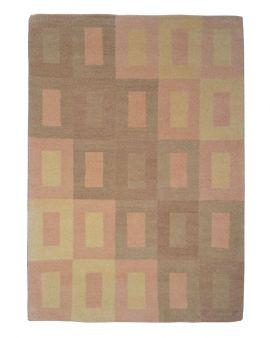 Alfombra manual de lana Wissenbach beige 165X235