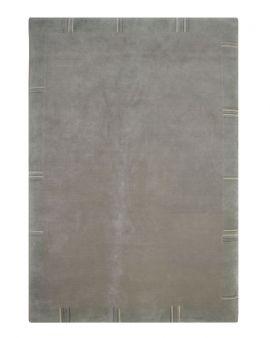 Alfombra manual de lana Elba gris 170X240
