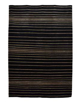 Alfombra manual de lana SHIBORI RAYADA OSCURA