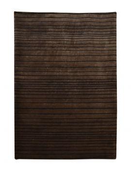 Alfombra de lana manual SHIBORI RAYAS OSCURAS 170X240