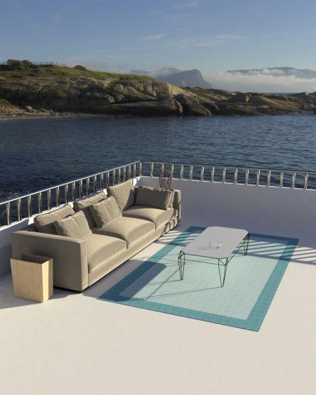 Alfombra de vinilo Kepor 8786 Azul terraza
