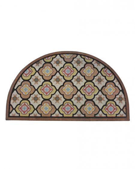 Felpudo de diseño Mosaico Floral