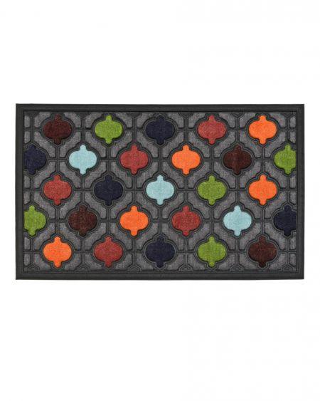 Felpudo de diseño Santorini multicolor