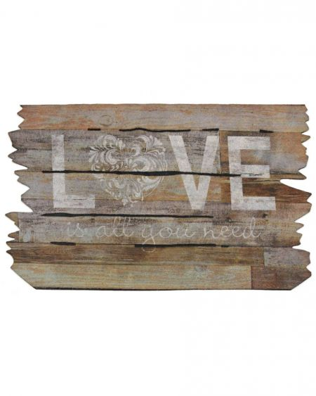 Felpudo de diseño LOVE IS ALL YOU NEED