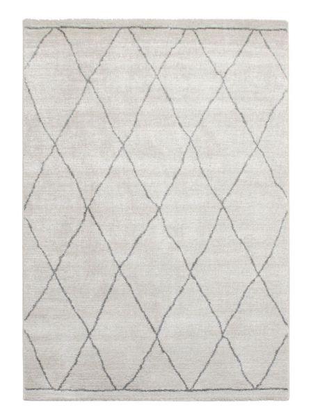 Alfombra estilo bereber SHERPA 49004 6242 en tono marfil